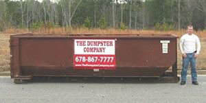 15-yard long dumpster