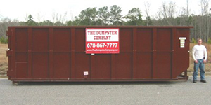 40-yard long dumpster