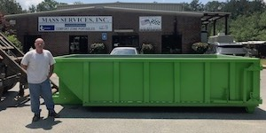 10-yard long dumpster